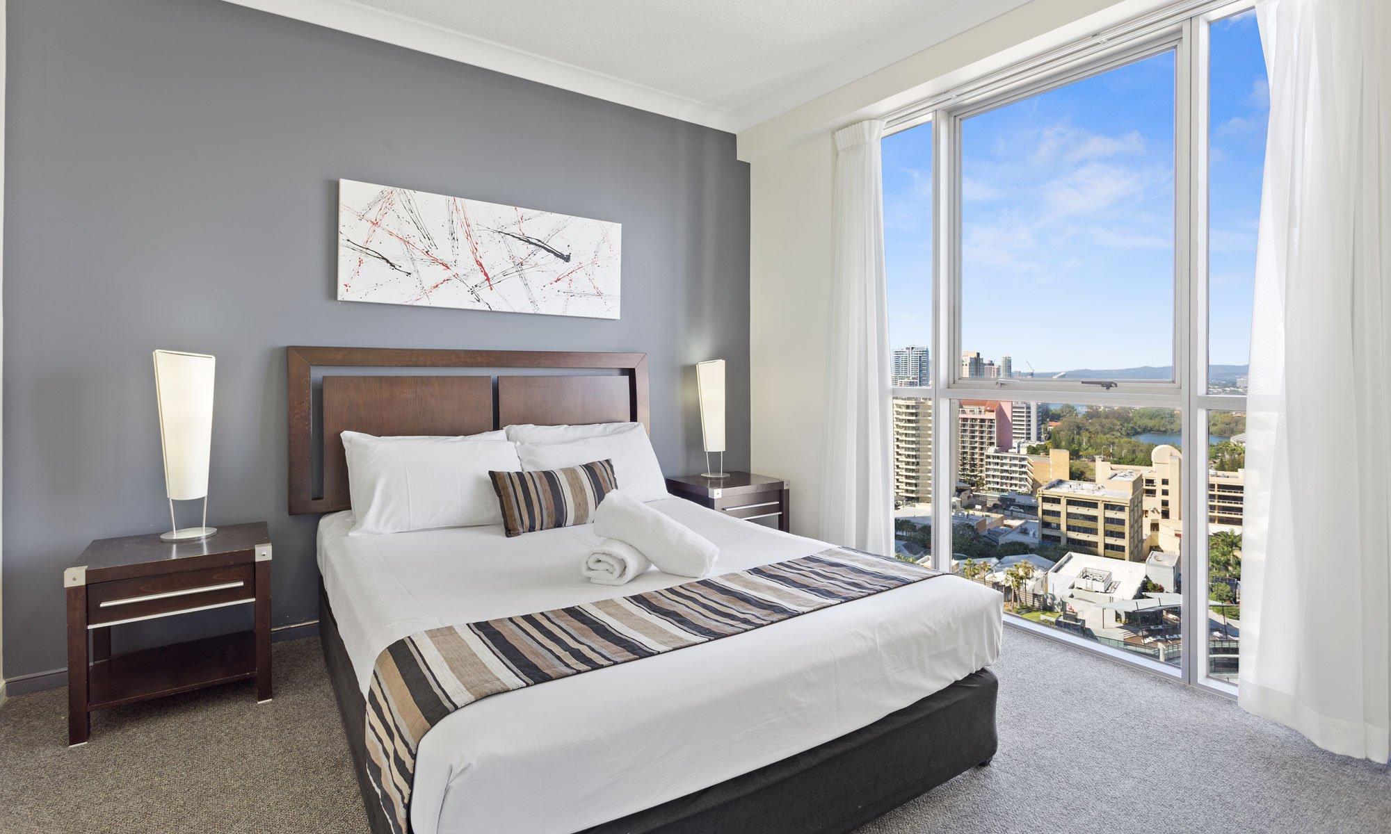 Gold Coast real estate for sale Chevron Renaissance 1171 main bedroom