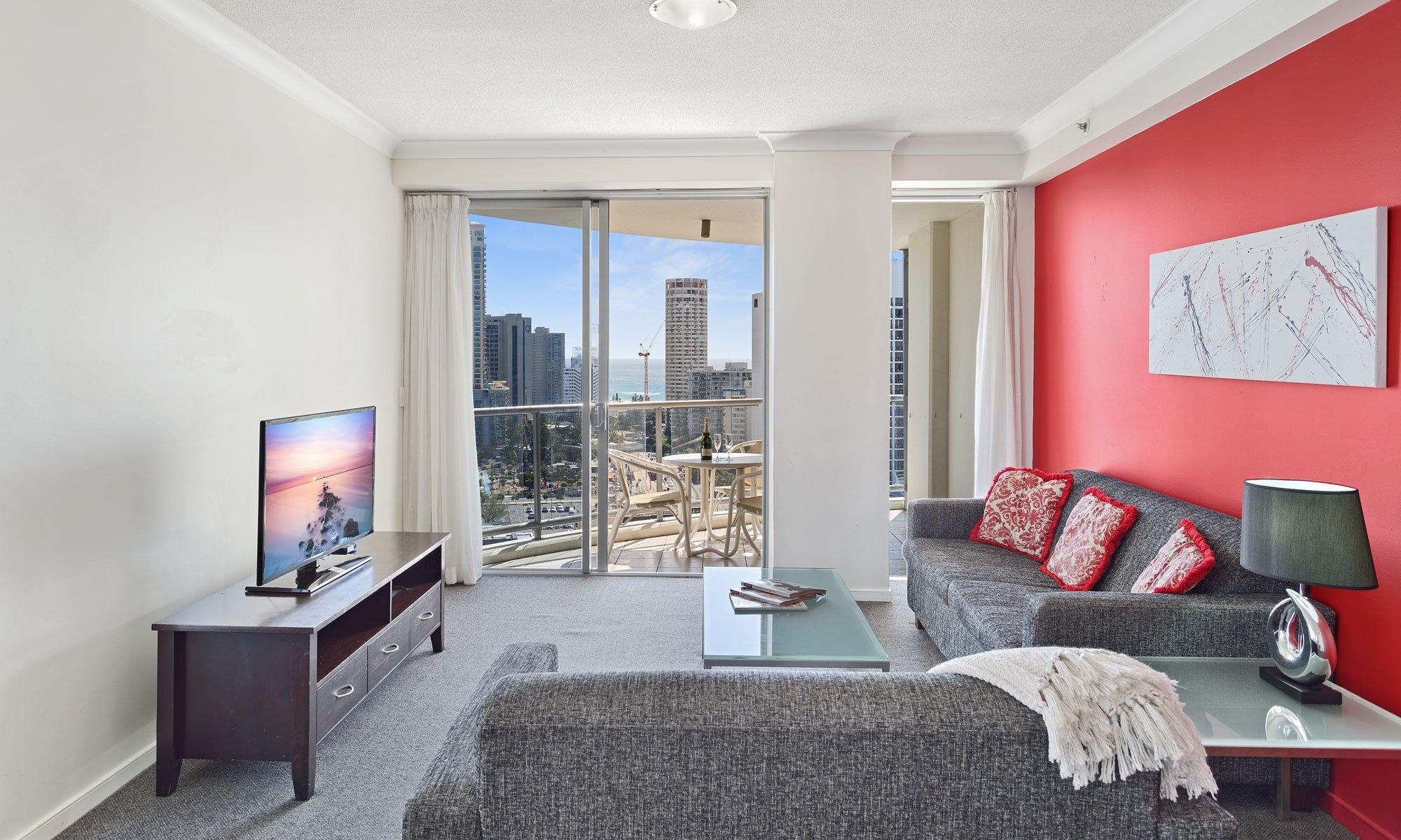 Gold Coast real estate for sale Chevron Renaissance 1171 large living room