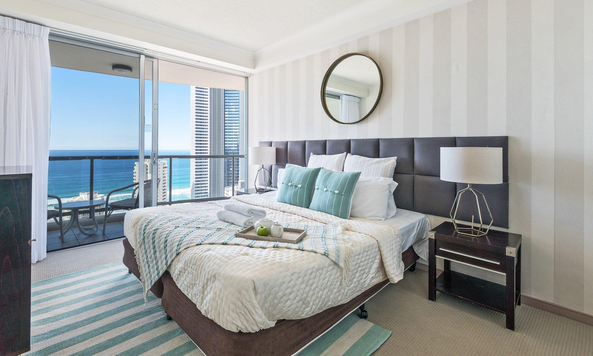 Gold Coast real estate for sale Chevron Renaissance 1264 main bedroom