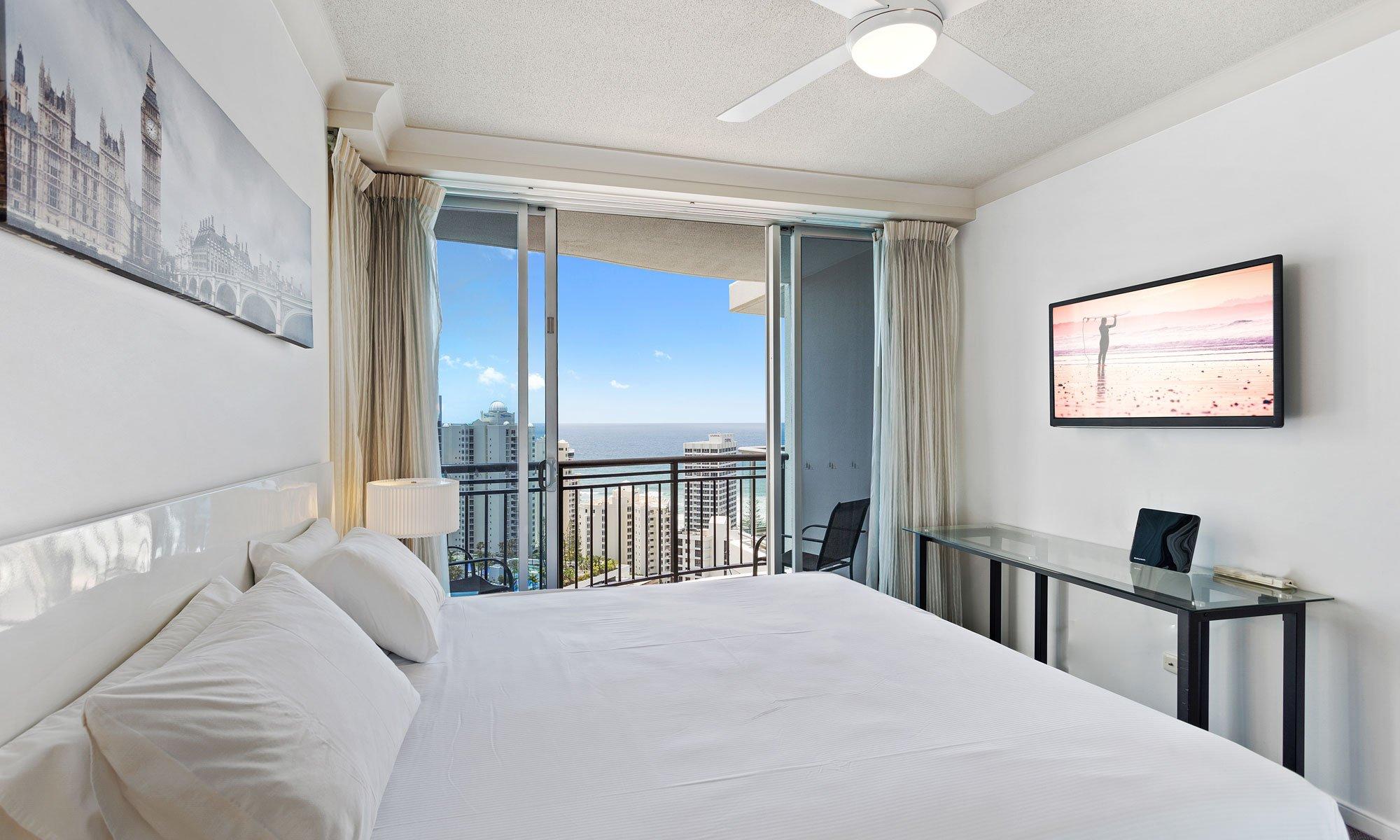 Gold Coast real estate for sale Chevron Renaissance 3223 main bedroom