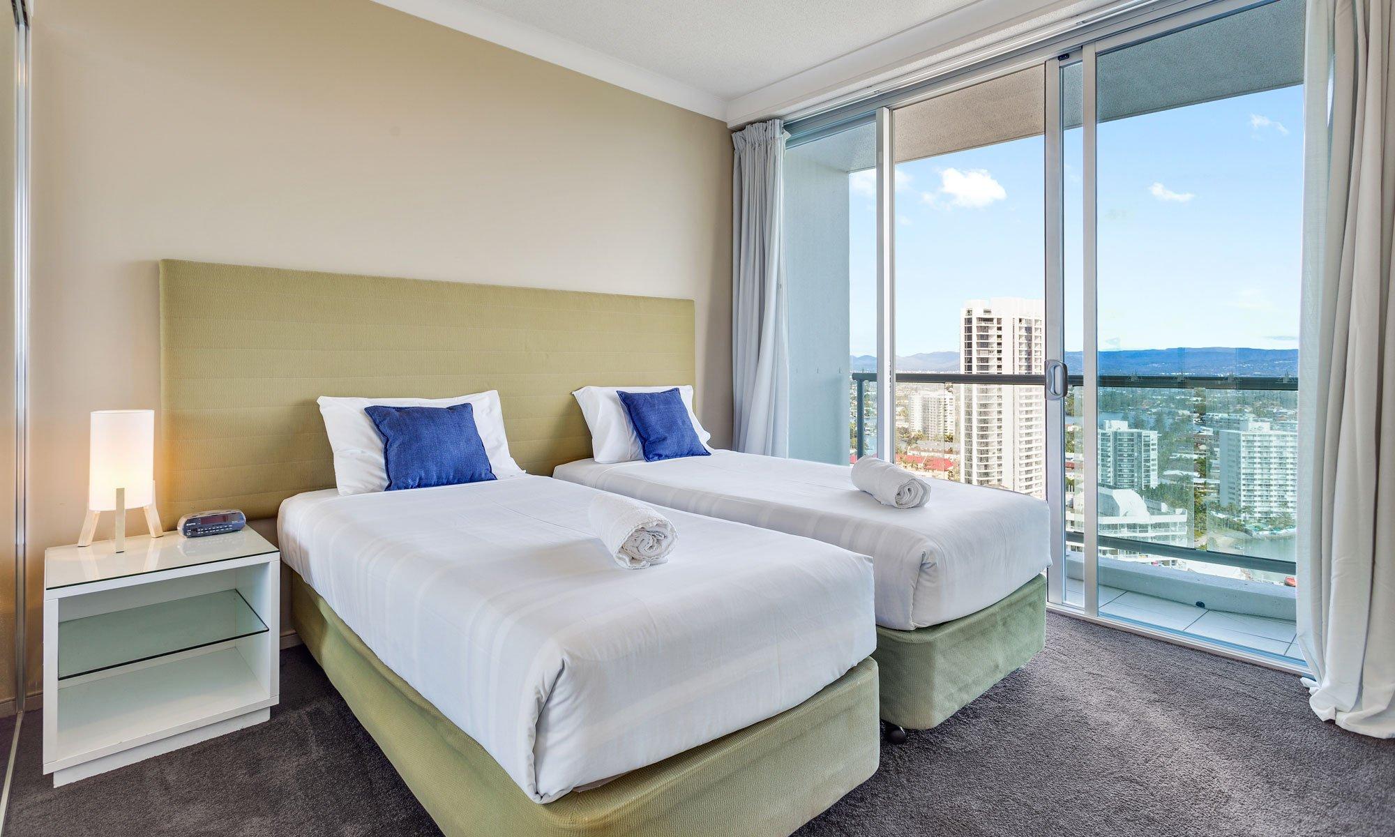 Gold Coast real estate for rent Chevron Renaissance 3237 second bedroom