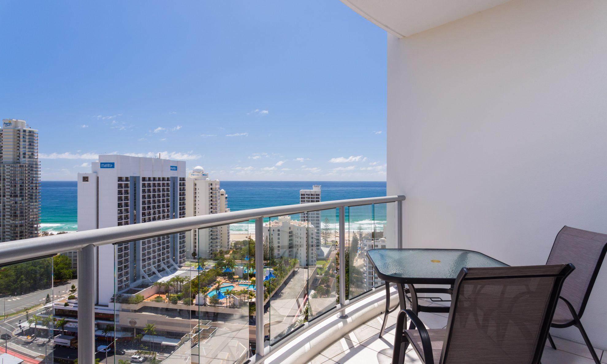 Chevron Renaissance 2222 balcony view